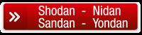 button Shodan Nidan Sandan Yondan rood
